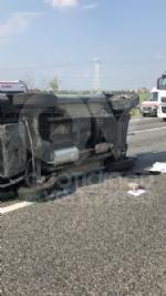 COLLEGNO - Doppio incidente in tangenziale: auto ribaltata, traffico in tilt. - immagine 4