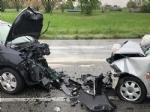 VENARIA - Frontale allo svincolo della tangenziale: due auto coinvolte, due feriti - immagine 4