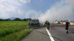 RIVOLI  - Il camioncino va a fuoco, la tangenziale in tilt: code chilometriche - immagine 4