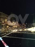 CAFASSE-VENARIA - Maltempo: scoperchiata la scuola media. Crolla il controsoffitto di una casa - immagine 4