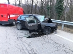 TRAGEDIA A CAFASSE - Scontro fra tre auto, una finisce nella scarpata: morta donna di 60 anni - immagine 5