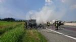 RIVOLI  - Il camioncino va a fuoco, la tangenziale in tilt: code chilometriche - immagine 5