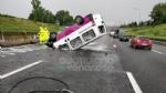 VENARIA REALE - Brutto incidente, tangenziale nord di Torino in tilt: due feriti al Maria Vittoria - FOTO - immagine 6