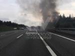 VENARIA-BORGARO - Il motore del tir prende fuoco: caos in tangenziale - immagine 6