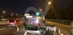 SAVONERA-COLLEGNO - Auto si ribalta: donna rimane bloccata a causa dellairbag - immagine 6