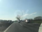 TORINO-BORGARO - Tir prende improvvisamente fuoco in tangenziale - immagine 6