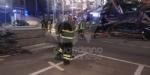 BORGARO - CROLLA IL PONTEGGIO DI UN PALAZZO: ATTIMI DI TERRORE IN VIA INGHILTERRA - FOTO - immagine 6