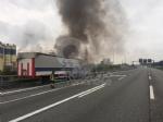 VENARIA-BORGARO - Il motore del tir prende fuoco: caos in tangenziale - immagine 7