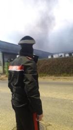 BORGARO - Incendio in azienda: colonna di fumo e aria irrespirabile - FOTO - immagine 8