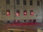 DRUENTO - Inaugurate le due panchine rosse nella piazza del Municipio - immagine 1