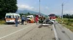 ROBASSOMERO - Grave incidente stradale sulla Direttissima: quattro feriti, uno grave - immagine 1