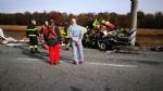 VENARIA - Terribile incidente sulla Direttissima: furgone sfonda il muro della Mandria, due feriti - immagine 2
