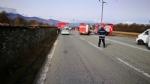 VENARIA - Terribile incidente sulla Direttissima: furgone sfonda il muro della Mandria, due feriti - immagine 3