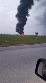 PIANEZZA-COLLEGNO - A fuoco i capannoni della ditta «Omnia Recuperi» di strada Signagatta - immagine 5