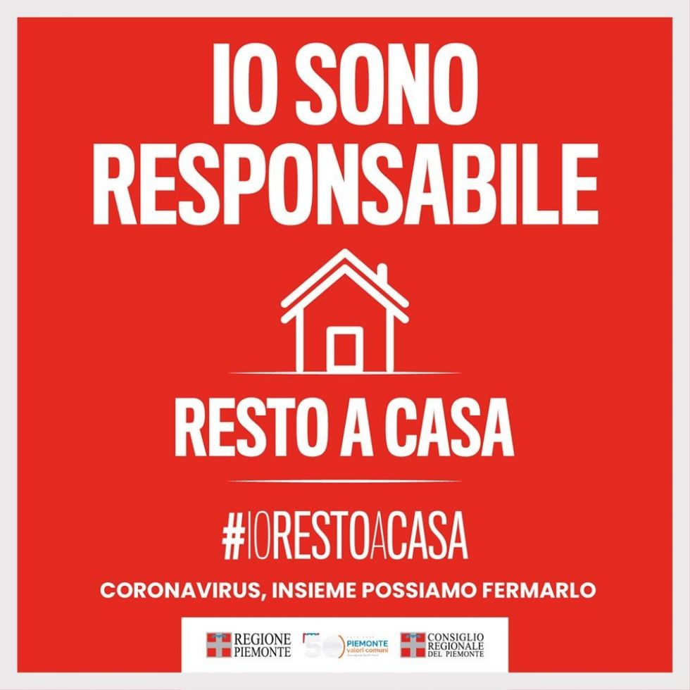 CORONAVIRUS - 115 casi positivi fra Torino e provincia: parte la campagna #iorestoacasa