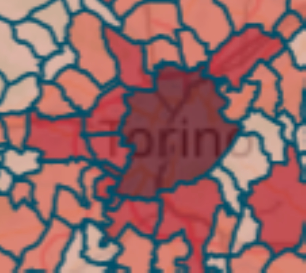 MAPPA CORONAVIRUS - Nella nostra zona i positivi sono ora diventati 891