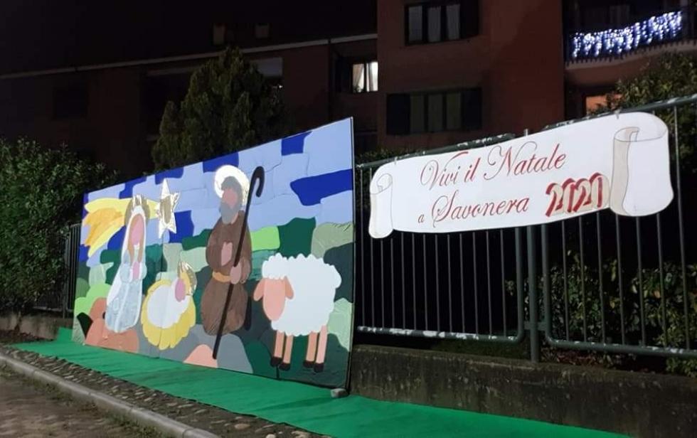 SAVONERA - Il Natale al tempo del Covid: un concorso di presepi e il patchwork della Natività