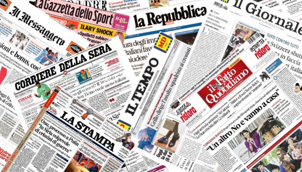 CORONAVIRUS - Cirio firma ordinanza per la consultazione dei giornali negli esercizi pubblici