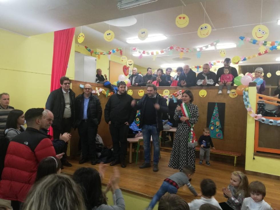 GIVOLETTO - Inaugurato il nuovo dormitorio nella scuola dell'Infanzia - FOTO