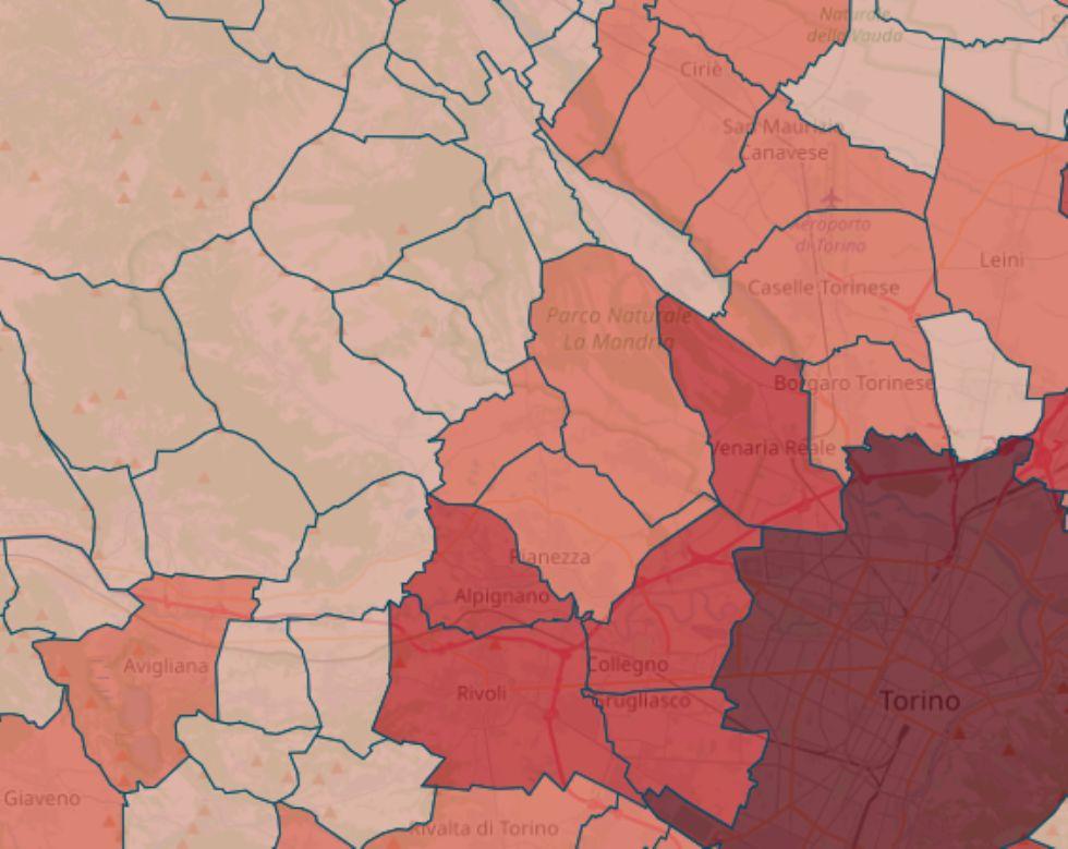 VIRUS - I POSITIVI COMUNE PER COMUNE: Scendono ancora a Rivoli, Venaria, Druento e Collegno