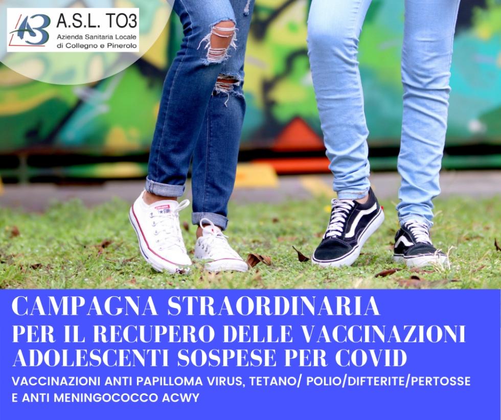 ASL TO3 - Al via la seconda fase della campagna di vaccinazioni obbligatorie degli studenti