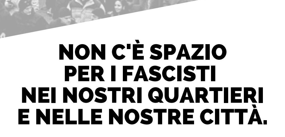 VENARIA - «No ai fascisti nei quartieri e nelle città»: sabato mattina sit-in piazza Vittorio