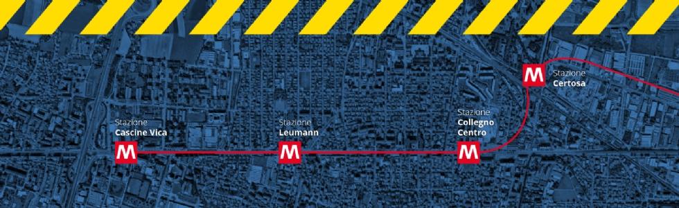 RIVOLI - Lavori per la Metro in corso Francia: disagi da domani, 18 febbraio 2021