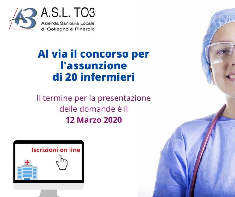 SANITA' E LAVORO - L'Asl To3 cerca 20 infermiere/i: tutte le informazioni utili