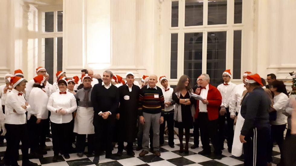 VENARIA - 420 partecipanti alla «Cena della solidarietà e della fratellanza» alla Reggia - FOTO