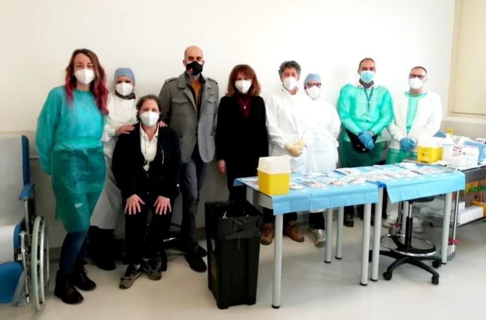 VENARIA - Partite le vaccinazioni «anti Covid» tra gli over 80 al Polo Sanitario