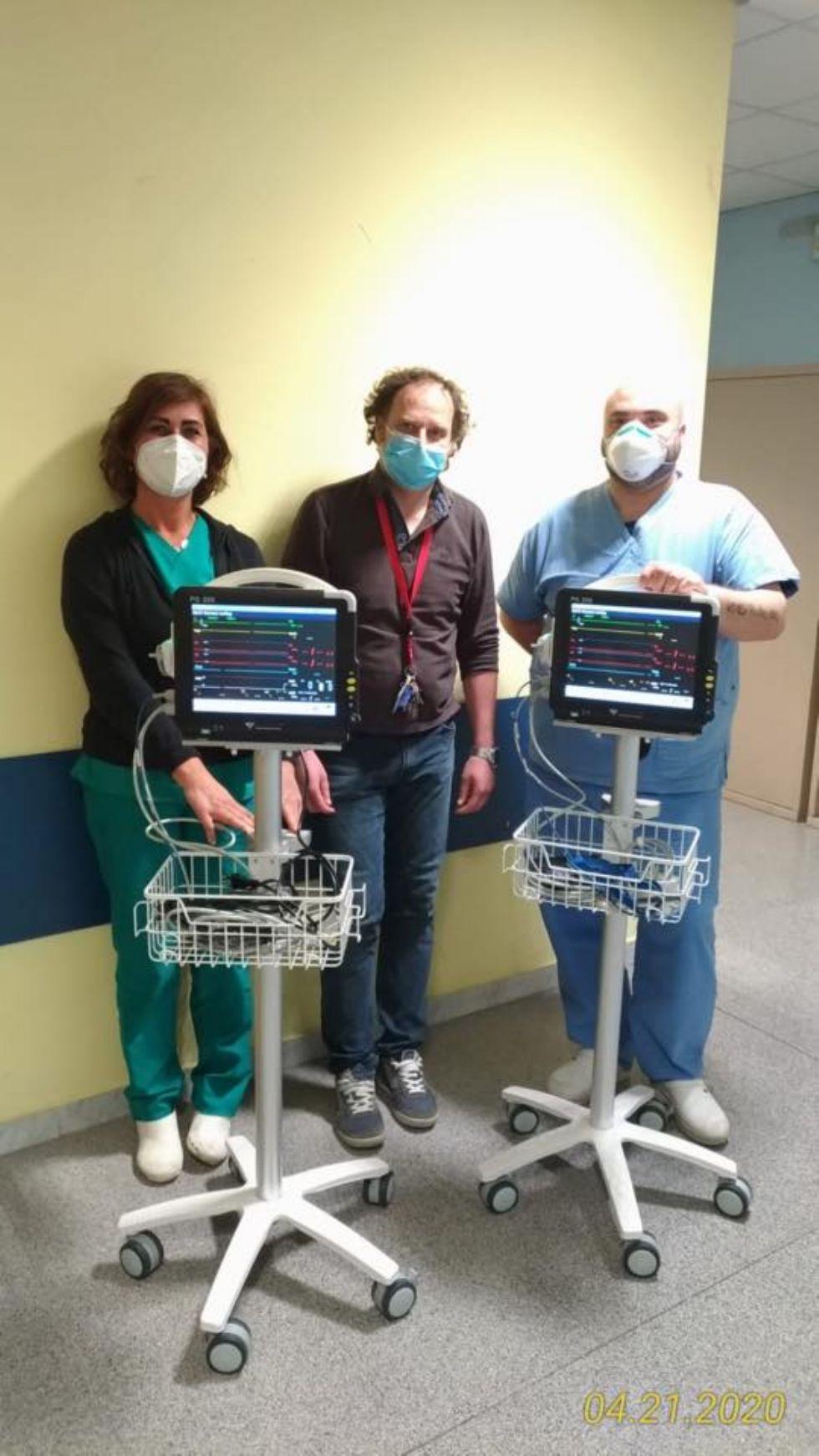 RIVOLI - La Azimut Capital Management dona due monitor multiparametrici al pronto soccorso