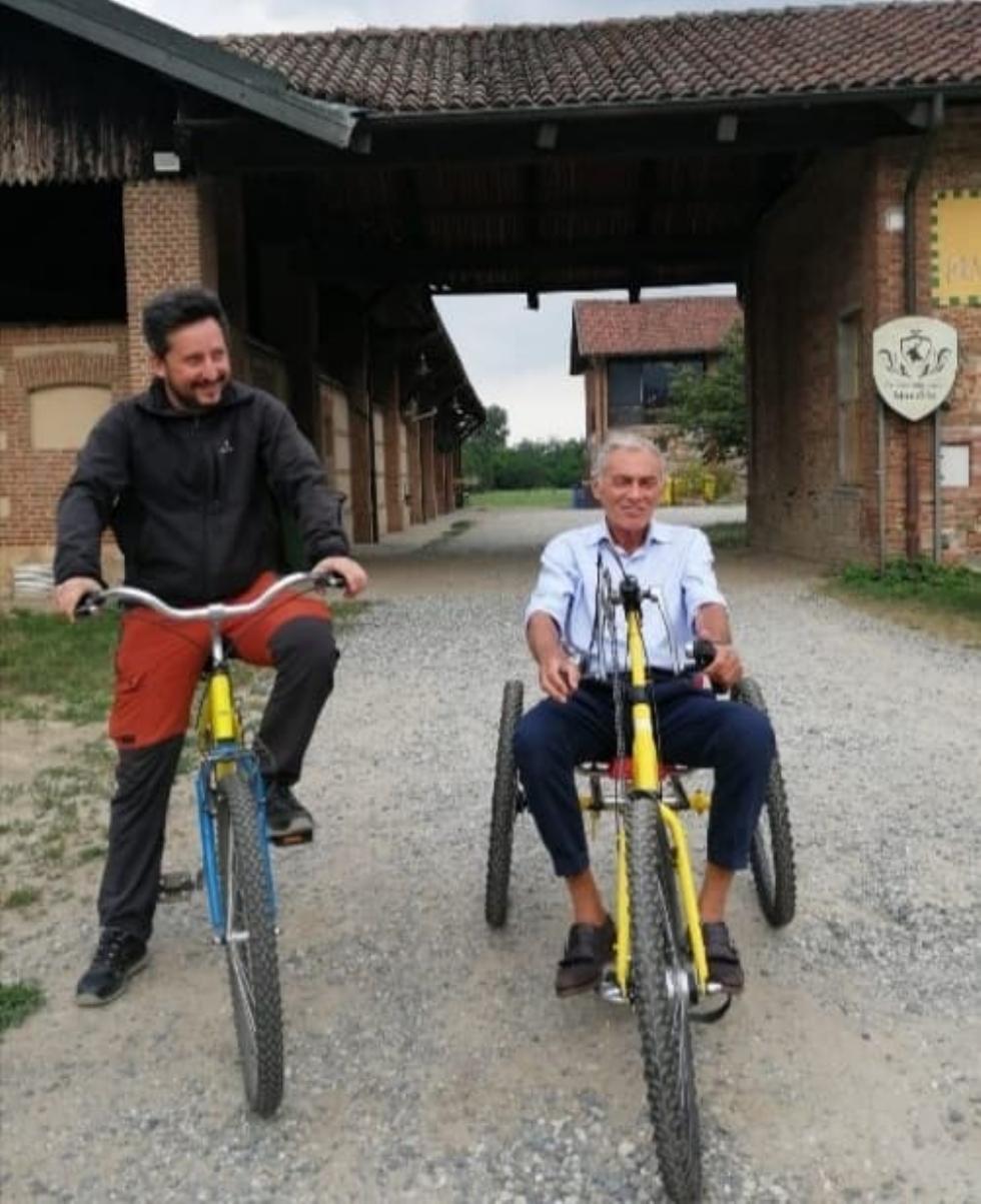 VENARIA - Al Parco della Mandria arrivano due handbike «solidali»