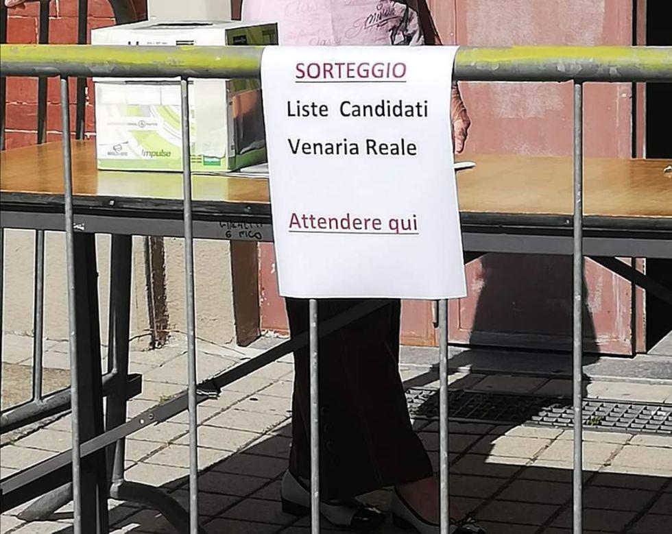 VENARIA ELEZIONI AMMINISTRATIVE 2020 - Sorteggiato il tabellone elettorale