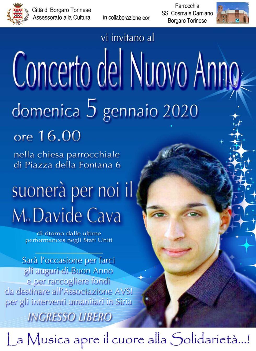 BORGARO - Domani in parrocchia il «Concerto del Nuovo Anno»: si esibirà il borgarese Cava