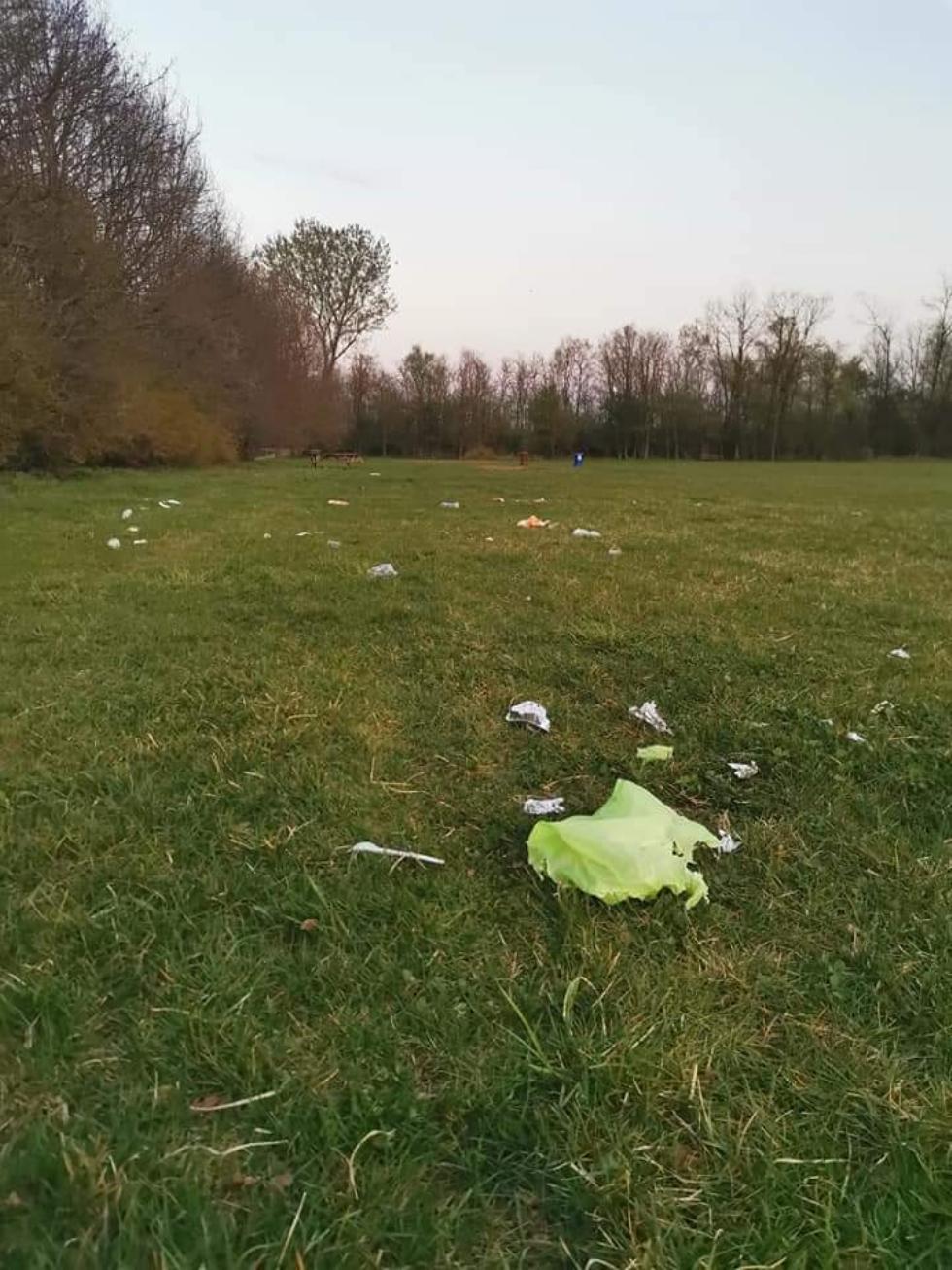 VENARIA - L'inciviltà si appropria del parco della Mandria: rifiuti abbandonati nel polmone verde