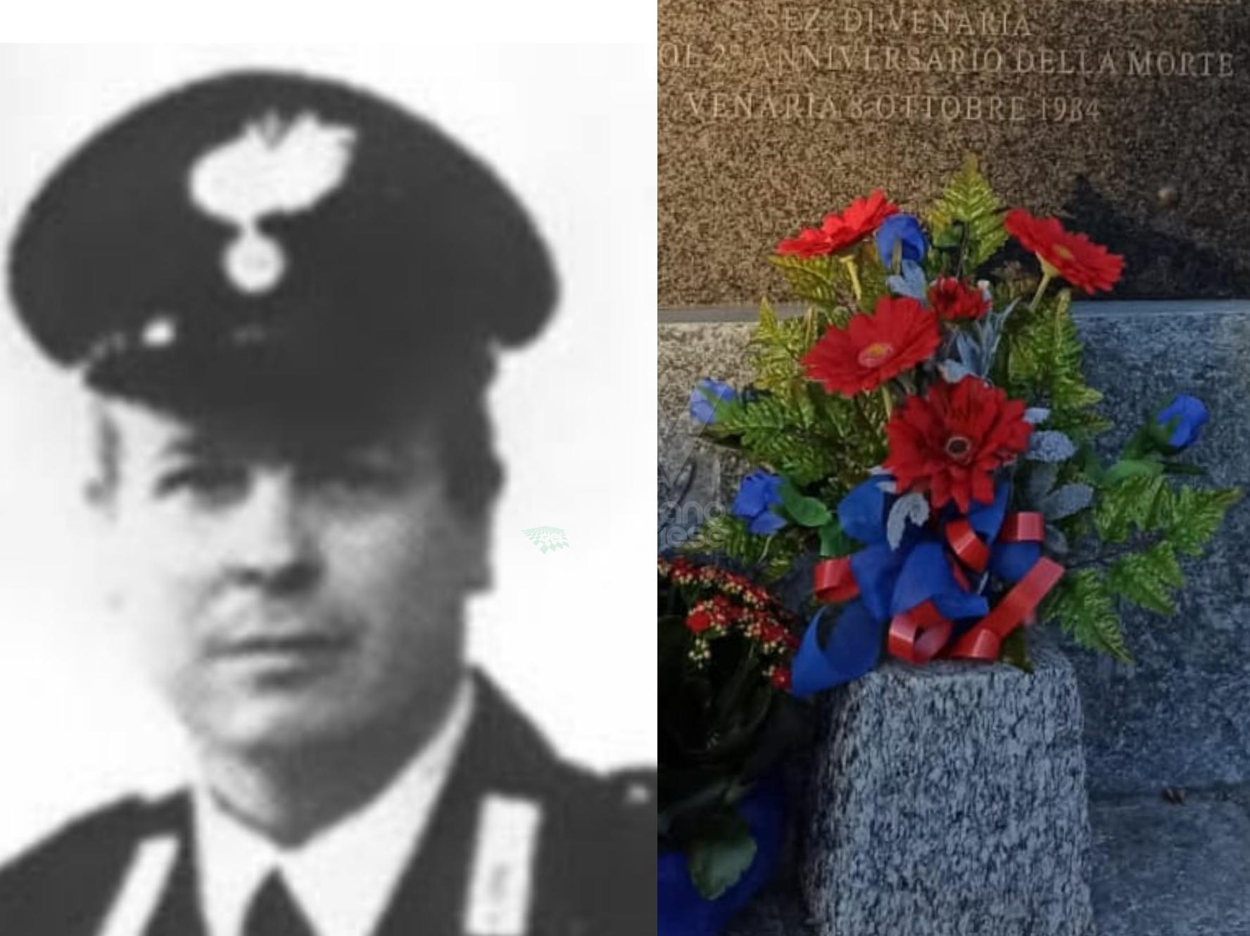 VENARIA - L'AssoCarabinieri ricorda il vicebrigadiere Benito Atzei a 39 anni dalla morte