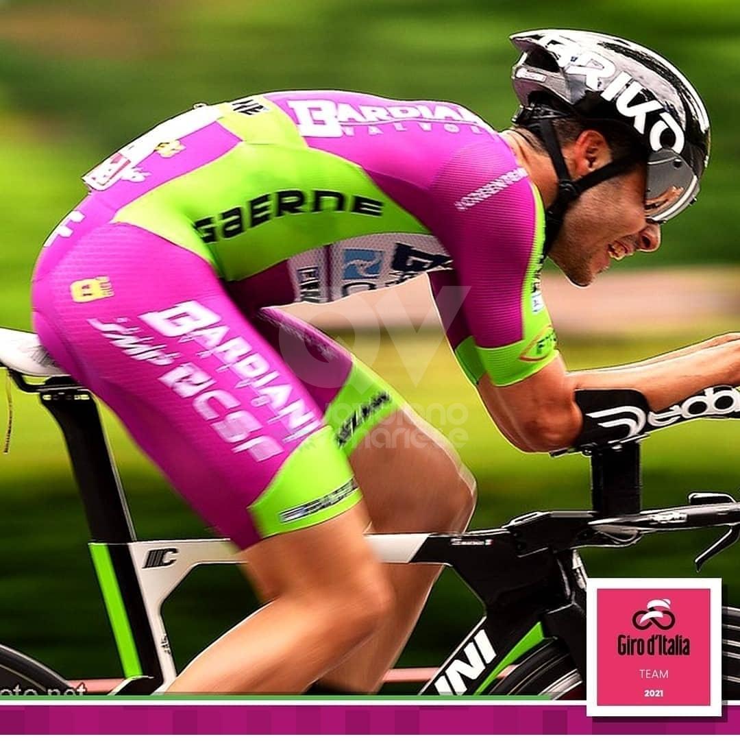 COLLEGNO - Emozione e fatica per Umberto Marengo al debutto nel Giro d'Italia